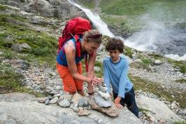Deutschland Österreich Italien Alpenüberquerung E 5 von Oberstdorf nach Meran 4.Tag Pitztal Aufstieg vom Mittelberg zur Braunschweiger Hütte 2760m